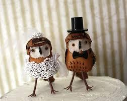 Owls Wedding Cake Topper Barn Rustic