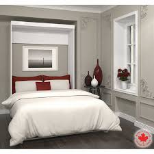 Bestar Boutique White Double Wall Bed