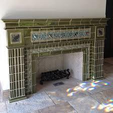 Batchelder Tile Fireplace Surround by Craftsman U2022 U2022 Rookwood Fireplace Craftsman Style Pinterest