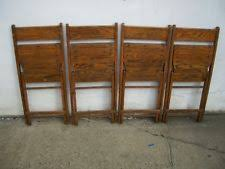 Stakmore Folding Chairs Vintage by Wood Folding Chairs Ebay