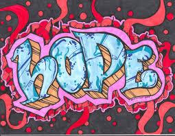 Drawn Word Graffiti Art 4