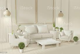 innen mockup poster mit sofa und dekoration pflanzen im wohnzimmer mit weißer wand 3drendering stockfoto und mehr bilder behaglich