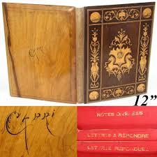 Leather Desk Blotter Australia by Antique Italian Sorrento Inlaid Desk Blotter Folio Renaissance