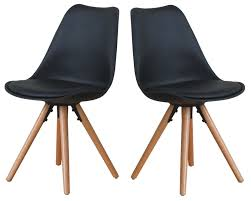 paket 2x esszimmerstuhl nelle küchenstuhl esszimmer küche stuhl stühle eiche schwarz dynamic 24 de
