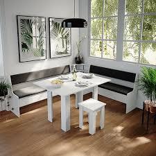 vicco eckbankgruppe küchenbank weiß 167cm sitzbank mit truhe esszimmerbank für esstisch