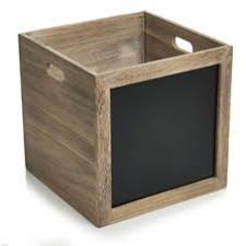 Wilko Wooden Crate With Blackboard