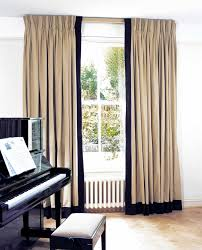Vertical Striped Window Curtains by Curtains With Leading Edge And Bottom Borders Curtains