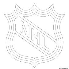 Coloriage Lnh Nhl Logo Lnh Nhl Hockey Sport JeColoriecom