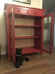 IKEA Red Hemnes Linen Cabinet for sale in Houston TX 5miles