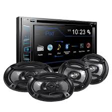 100 Truck Stereo Pioneer AXT2869BT Car System With InDash DVD And 2 Sets Of