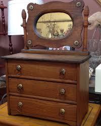 Birdseye Maple Highboy Dresser by Antique Miniature Oak Dresser With Mirror Salesman Sample For