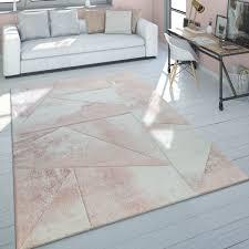 teppich 3 d muster pastellfarben rosa