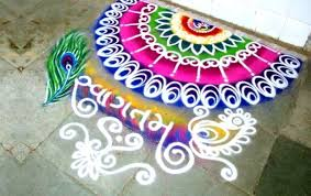 Corner Rangoli Design – Beautiful and Simple Border Rangoli Designs
