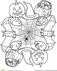 First Grade Holidays Seasons Worksheets Halloween Mandala