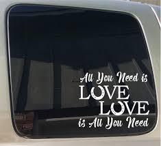 100 Truck Window Decal All You Need Is Love Horse Hoof Vinyl Car Trailer