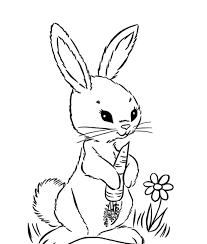 Adorable Rabbit Color Pages To Print