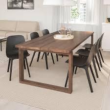 mörbylånga odger tisch und 6 stühle eichenfurnier anthrazit 220x100 cm
