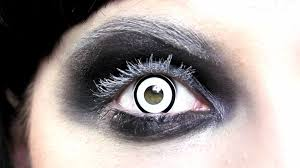 White Halloween Contacts Prescription by Manson White Zombie Contact Lenses Youtube