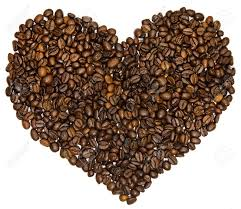 One Heart From Coffee Beans Without Background Stock Photo