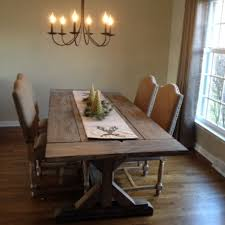 Buy A Hand Crafted Fancy X Farmhouse Table With Extensions Within Rustic Dining Tables Remodel 2