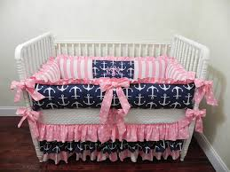 Navy And Coral Crib Bedding by Custom Design Baby Crib Bedding All About Crib