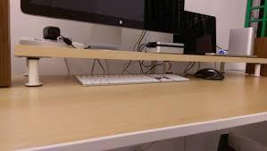 Ikea Galant Corner Desk Dimensions by 10cm Lift Desk Shelf Monitor Stand Ikea Hackers Ikea Hackers