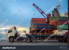 Lorry Trailer Truck Delivery Unit Container Stock Photo (Royalty ... Ganesh Containers Movers Photos Wadala Truck Terminal Mumbai Truck Bus Termini Ignored For Bigger Projects China 3axle Trlcontainer Chassisport Semi Franks Restaurant And 2 Miles South Sumter New York Port Will Use Appoiments To Battle Cgestion Wsj City Classics 107 Carson Street Railtruck Ho Midwest Landmarkhuntercom Rio Pecos Rc Container Truck Terminal Reach Stacker At Work Youtube Equipment Clarke Refurbs Fuel Terminals Exxonmobil Australia