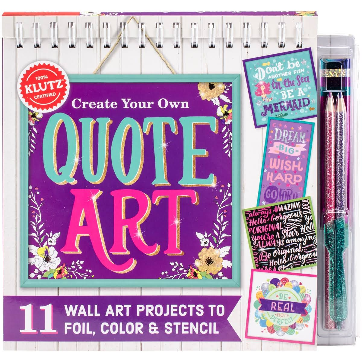 Klutz Create Your Own Quote Art Book Kit- K590651