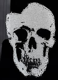 möbel wohnen wandbild bild totenkopf skull glasbild