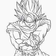 Goku Para Colorear Facil