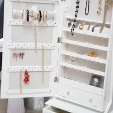 Furniture: Mesmerizing White Jewelry Armoire With Elegant Shaped ... Tips Interesting Walmart Jewelry Armoire Fniture Design Ideas Westwood Jewellery Cabinet Storage Standing With Dressers Wall Organizer Foxhunter Makeup Lockable How To Install Mirrored Steveb Interior Big Lots Floor Box Chest Stand Necklace Mirror Fnitures Lori Greiner Spning Jewelry Armoire Abolishrmcom Have Have It Photo Frames Cheval High