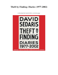 Theft By Finding Diaries 1977 2002 To Download This Book The Link