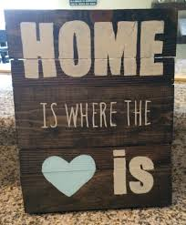 Home Is Where The Heart Custom Wood Sign By JCor Signs Designs