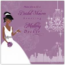 Springtime NYC African American Bridal Shower Invitations