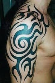 The Tribal Arm Tattoos Placed On Body For Specific Meaning Some Of Meanings Were Spiritual And Showed Which Clan You Belonged To