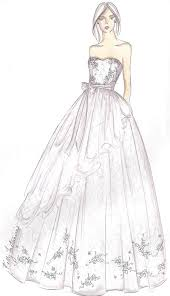 Drawn Wedding Dress Prom 2
