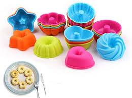 voarge 24 stück silikon backform silikon geriffelte dessertform kürbis blume herz savarin formen formen für mini cakes