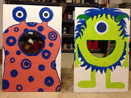 Bean Bag Toss Games Unique Our Homemade Monster Theme Game Bags Plywood