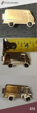 Vintage Truck Or Van Tie Clip Gold Tone And Black In 2018 | My Posh ...