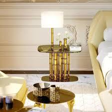 casa padrino luxus designer beistelltisch bambus gold schwarz weiß 70 x 45 x h 40 cm vergoldeter messing nachttisch mit glasplatte und