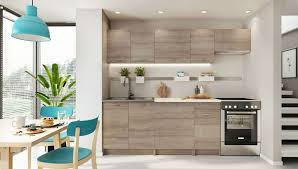 neu küche küchenzeile mela 180 240 cm eiche trüffel mit arbeitsplatten