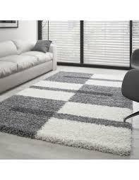 hochflor langflor wohnzimmer shaggy teppich florhöhe 3cm grau weiss hellgrau