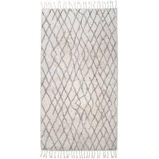 hk living teppich für das badezimmer aus baumwolle 90 x 175cm mit skandi muster