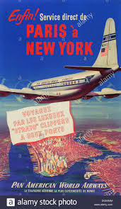 Pan American Airlines Vintage Travel Poster 1940s