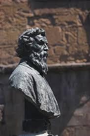 Bust Of Benvenuto Cellini On The Ponte Vecchio Florence Born
