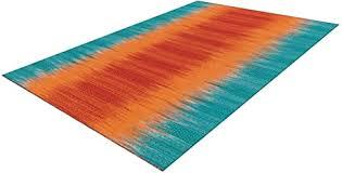 arte espina teppich farbverlauf wohnzimmer bunt rot orange blau türkis