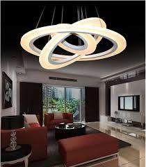luxury modern chandelier led circle chandelier lights for living