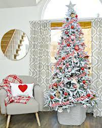 Slim White Flocked Christmas Tree by Snowy Spruce Flocked Artificial Christmas Tree Treetopia