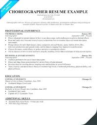 Dance Resume Sample For College Template Financial Services Representative And Templates
