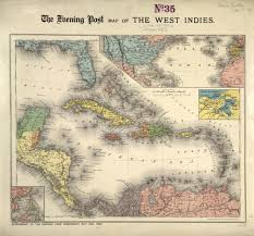 The Evening Post Map Of West Indies